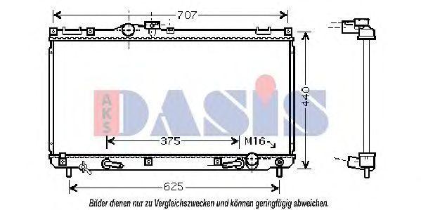 Радиатор, охлаждение двигателя AKS DASIS 210116N