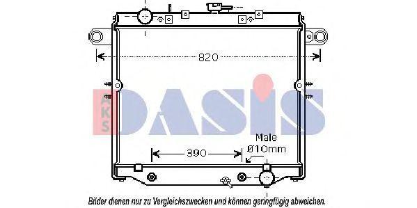 Радиатор, охлаждение двигателя AKS DASIS 210118N