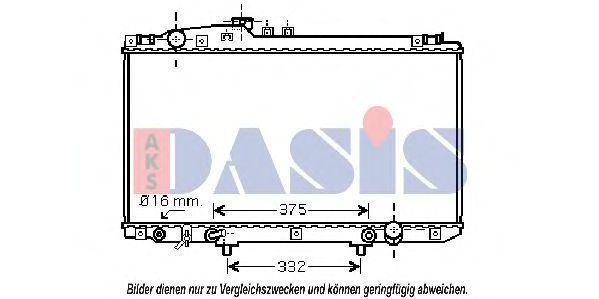 Радиатор, охлаждение двигателя AKS DASIS 210127N