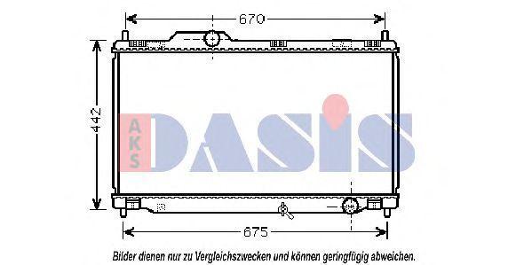 Радиатор, охлаждение двигателя AKS DASIS 210203N