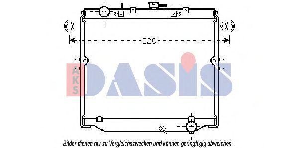Радиатор, охлаждение двигателя AKS DASIS 210216N