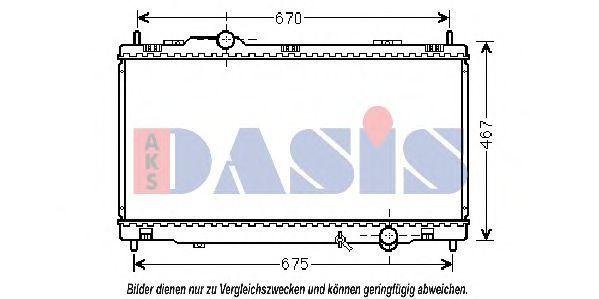 Радиатор, охлаждение двигателя AKS DASIS 210225N
