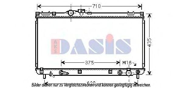 Радиатор, охлаждение двигателя AKS DASIS 210226N