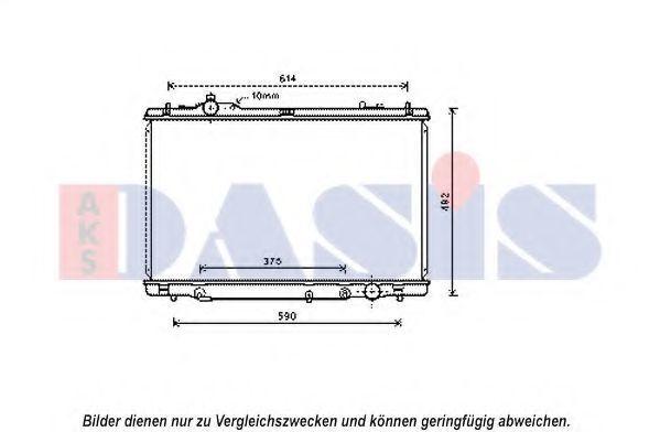 Радиатор, охлаждение двигателя AKS DASIS 210241N
