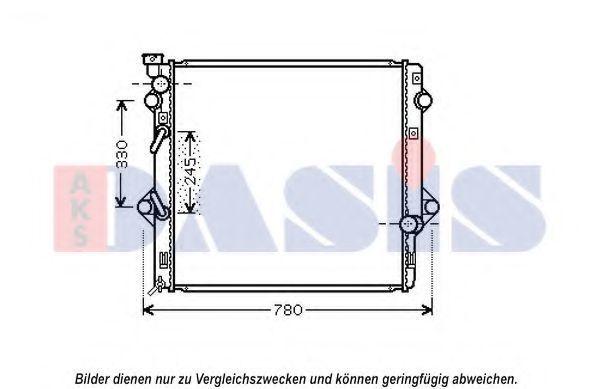 Радиатор, охлаждение двигателя AKS DASIS 210243N