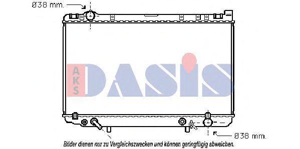Радиатор, охлаждение двигателя AKS DASIS 211650N