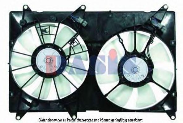 Вентилятор, охлаждение двигателя AKS DASIS 218006N