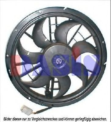 Вентилятор, охлаждение двигателя AKS DASIS 228020N