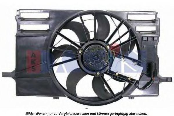Вентилятор, охлаждение двигателя AKS DASIS 228043N