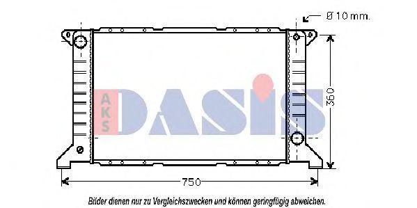 Радиатор, охлаждение двигателя AKS DASIS 250020N
