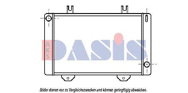 Радиатор, охлаждение двигателя AKS DASIS 250090N
