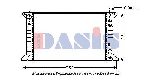 Радиатор, охлаждение двигателя AKS DASIS 250100N