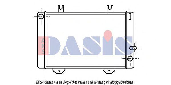 Радиатор, охлаждение двигателя AKS DASIS 250110N
