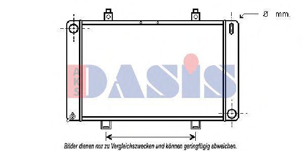 Радиатор, охлаждение двигателя AKS DASIS 250120N