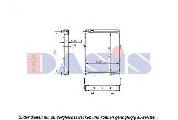 Радиатор, охлаждение двигателя AKS DASIS 260018N