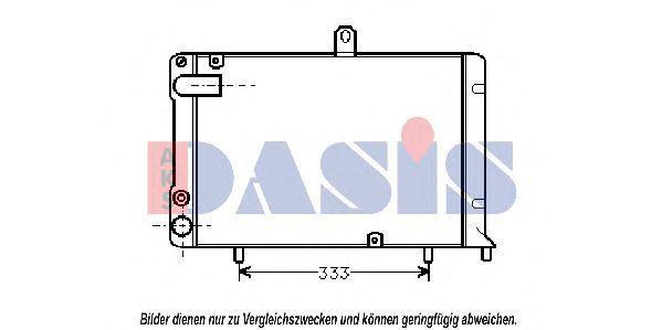 Радиатор, охлаждение двигателя AKS DASIS 300300N