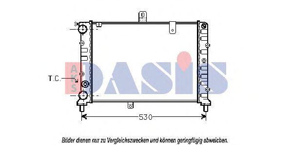 Радиатор, охлаждение двигателя AKS DASIS 300340N