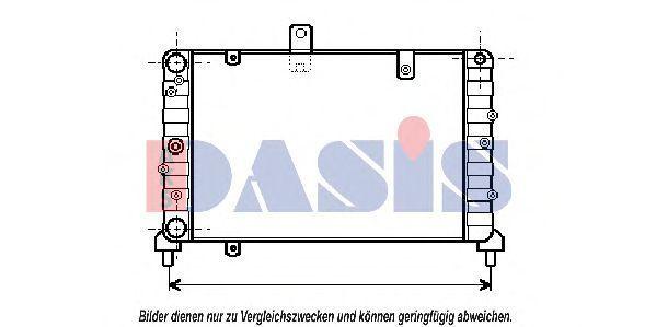 Радиатор, охлаждение двигателя AKS DASIS 300350N