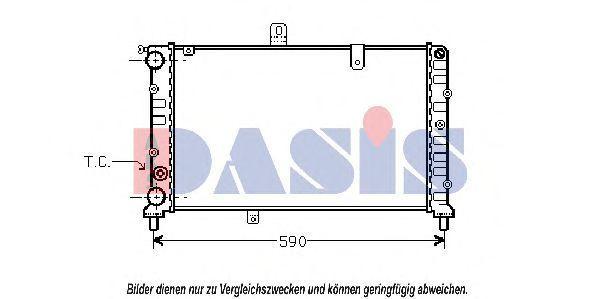 Радиатор, охлаждение двигателя AKS DASIS 300360N