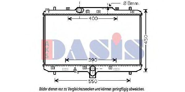 Радиатор, охлаждение двигателя AKS DASIS 320034N