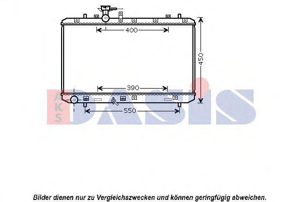 Радиатор, охлаждение двигателя AKS DASIS 320036N