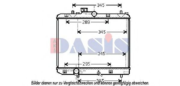 Радиатор, охлаждение двигателя AKS DASIS 320048N