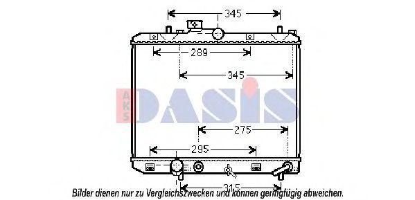 Радиатор, охлаждение двигателя AKS DASIS 320049N