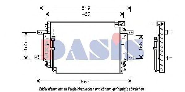 Конденсатор, кондиционер AKS DASIS 322010N
