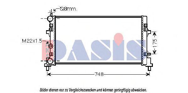 Радиатор, охлаждение двигателя AKS DASIS 330004N