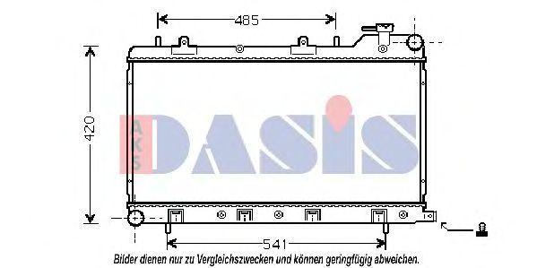 Радиатор, охлаждение двигателя AKS DASIS 350015N