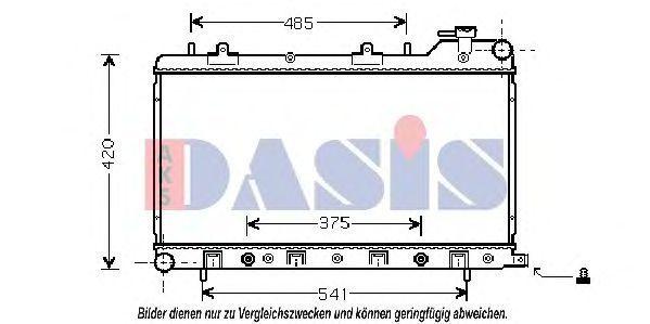 Радиатор, охлаждение двигателя AKS DASIS 350016N