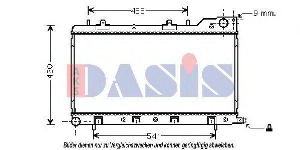 Радиатор, охлаждение двигателя AKS DASIS 350017N