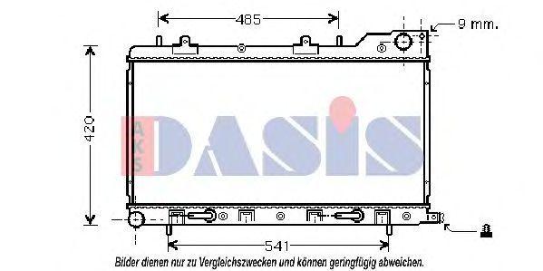 Радиатор, охлаждение двигателя AKS DASIS 350018N