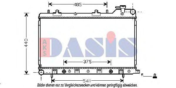 Радиатор, охлаждение двигателя AKS DASIS 350019N