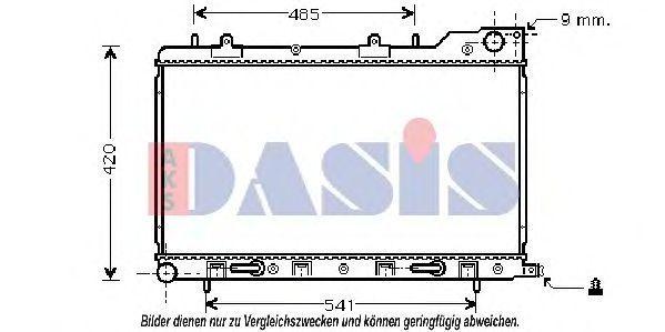Радиатор, охлаждение двигателя AKS DASIS 350024N
