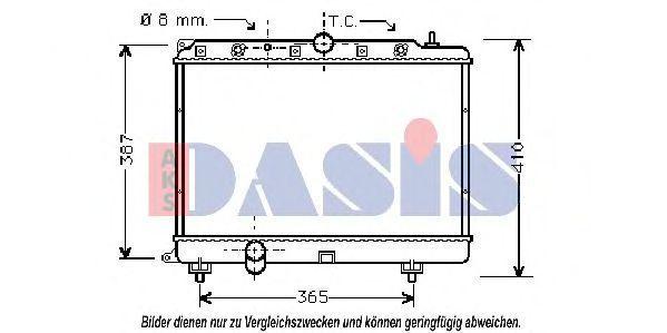 Радиатор, охлаждение двигателя AKS DASIS 370004N