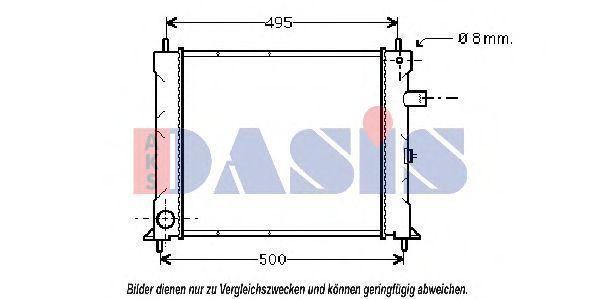 Радиатор, охлаждение двигателя AKS DASIS 370270N