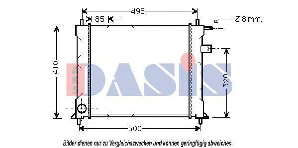 Радиатор, охлаждение двигателя AKS DASIS 370330N
