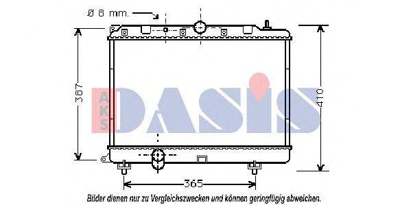 Радиатор, охлаждение двигателя AKS DASIS 370350N