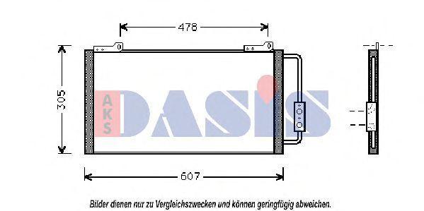 Конденсатор, кондиционер AKS DASIS 372010N