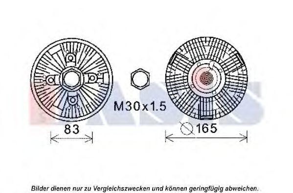 Сцепление, вентилятор радиатора AKS DASIS 378036N