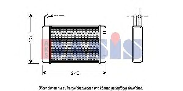 Теплообменник, отопление салона AKS DASIS 379070N