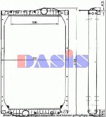 Радиатор, охлаждение двигателя AKS DASIS 460000N