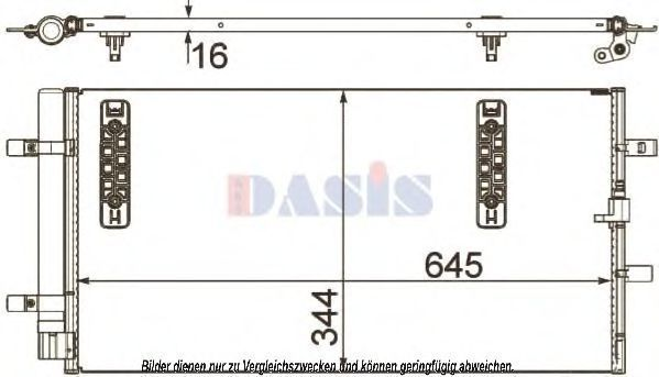 Конденсатор, кондиционер AKS DASIS 482018N