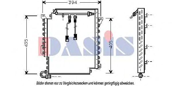 Конденсатор, кондиционер AKS DASIS 482030N
