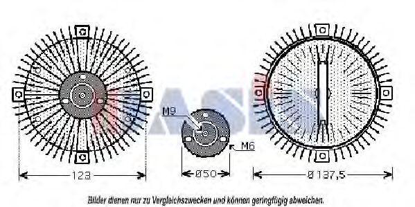 Сцепление, вентилятор радиатора AKS DASIS 488080N