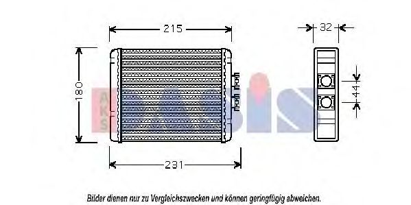 Теплообменник, отопление салона AKS DASIS 489005N