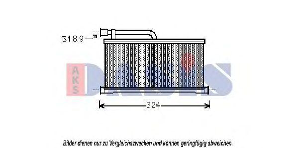 Теплообменник, отопление салона AKS DASIS 489008N