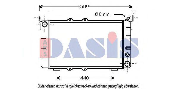 Радиатор, охлаждение двигателя AKS DASIS 490010N