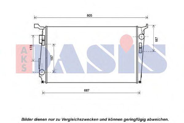 Радиатор, охлаждение двигателя AKS DASIS 490013N
